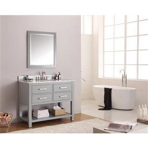 Avanity Brooks 43-in Gray With Sink Marble Top Vanity