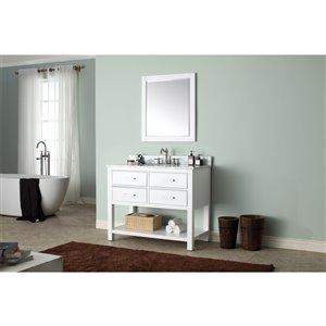 Avanity Brooks 43-in White With Sink Marble Top Vanity