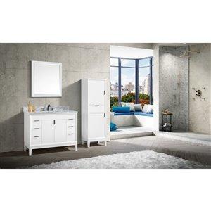 Avanity Emma 43-in White With Sink Marble Top Vanity