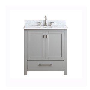 Avanity Modero 31-in Gray With Sink Marble Top Vanity