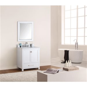 Avanity Modero 31-in White With Sink Marble Top Vanity
