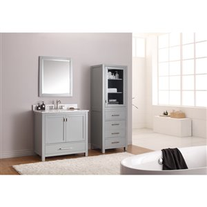 Avanity Modero 37-in Gray With Sink Marble Top Vanity