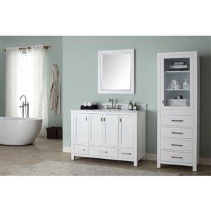 Avanity Modero 49-in Single Sink White Bathroom Vanity with Marble Top