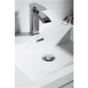 GEF Rosalie Vanity with Acrylic Top, 36-in White