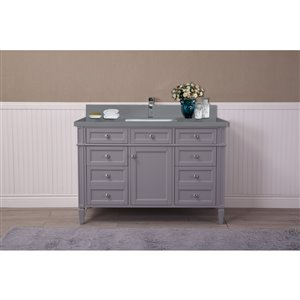 GEF Catalina Vanity with Grey Quartz Top, 48-in Grey