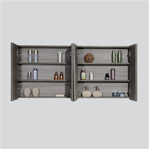 GEF Selena Medicine Cabinet, 60-in Maple Grey