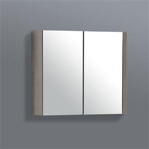 GEF Selena Medicine Cabinet, 24-in Maple Grey