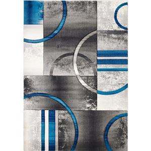 Segma Sofia 8-ft x 11-ft Crystal Grey-Blue Area Rug