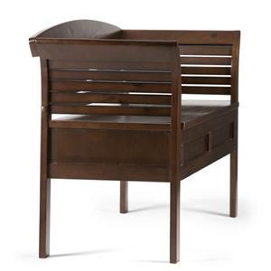 Simpli Home Arlington 49-in Rustic Brown Flip Top Wooden Stroage Indoor Bench