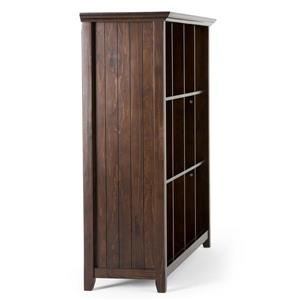 Simpli Home Acadian 57-in x 16-in x 48-in 12 Tobacco Brown Cube Storage