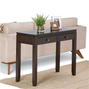 Simpli Home Cosmopolitan Coffee Brown Console Sofa Table
