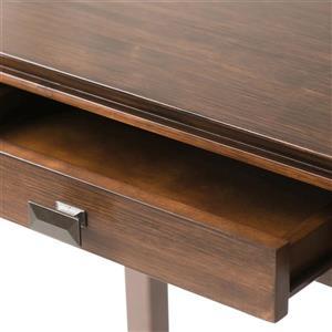 Simpli Home Artisan Auburn Brown Console Sofa Table