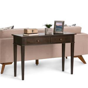 Simpli Home Carlton Tobacco Brown Console Sofa Table