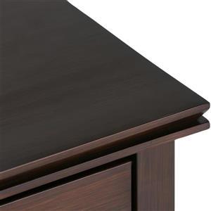 Simpli Home Artisan 24-in x 15-in x 27-in Auburn Brown Bedside Table