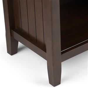 Simpli Home Acadian 24-in x 16-in x 27-in Tobacco Brown Bedside Table
