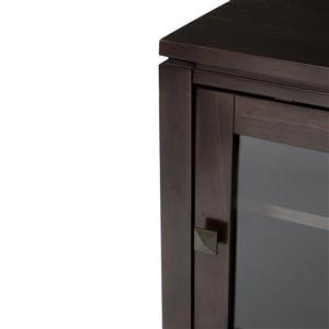 Simpli Home Cosmopolitan Coffee Brown Medium Storage Cabinet