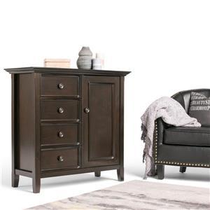 Simpli Home Amherst Dark Brown Medium Storage Cabinet