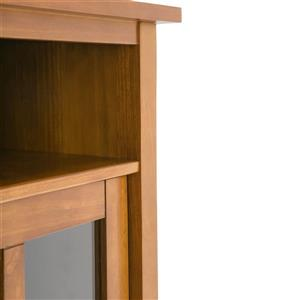 Simpli Home Warm Shaker Honey Brown Storage Cabinet