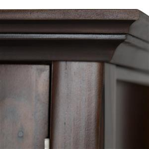 Simpli Home Acadian Tobacco Brown Storage Cabinet