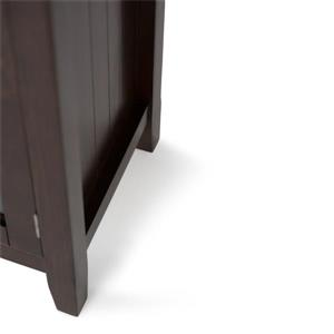 Simpli Home Acadian Tobacco Brown Wide Storage Cabinet
