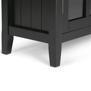 Simpli Home Acadian Black Medium Storage Cabinet