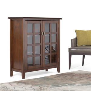 Simpli Home Artisan Auburn Brown Medium Storage Cabinet