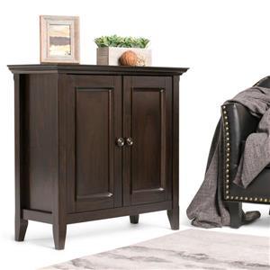 Simpli Home Amherst Dark Brown Small Storage Cabinet