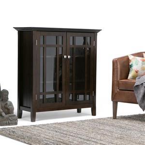 Simpli Home Bedford Tobacco Brown Medium Storage Cabinet