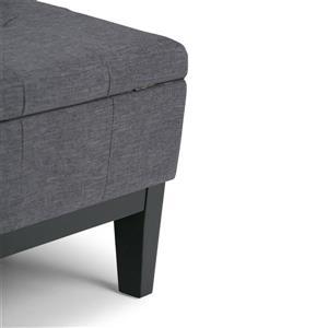Simpli Home Dover 35.8-in x 35.8-in x 18.5-in Slate Grey Square Coffee Table Ottoman