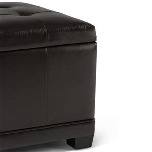 Simpli Home Westchester Brown Storage Ottoman Bench Tanners