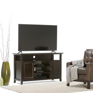 Simpli Home Amherst Dark Brown TV Media Stand