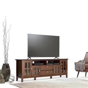 Simpli Home Artisan Auburn Brown TV Media Stand