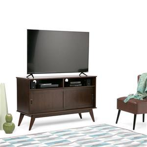 Simpli Home Draper Auburn Brown Mid-Century Tall TV Media Stand