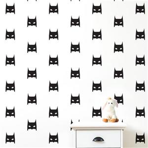 ADzif Batman Mask 4.50- in x 5.50 in Peel and Stick Wall Decal