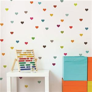 ADzif Hearts 2- in x 2- in Peel and Stick Wall Decal