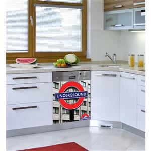 ADzif Peal and Stick Decal for Dishwasher - London
