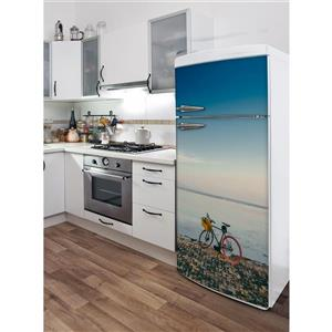 ADzif Bali Ride 30- in x 70- in Peal and Stick Decal for Refrigerator