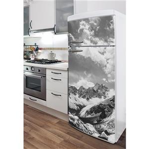 ADzif Decal for Refrigerators - Monochrome Himalayas