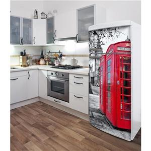 ADzif London  30- in x 70- in Peal and Stick Decal for Refrigerator
