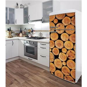 ADzif Little Logs 30- in x 70- in Peal and Stick Decal for Refrigerator