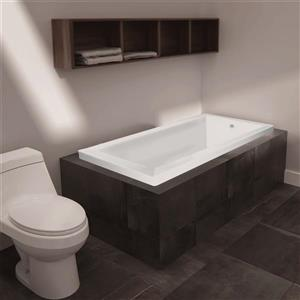 Jade Bath Moderno 60-in White  Podium or Drop In Tub