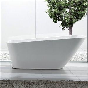 Jade Bath Athenes 67-in White  One Piece Freestanding Tub