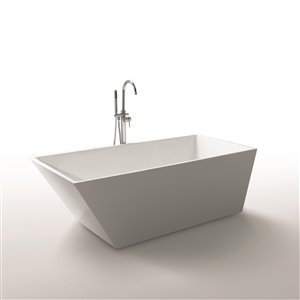 59-in French Riviera Freestanding Soaking Bathtub