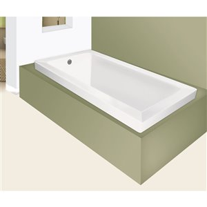 60-in Signature Drop-in Soaking Bathtub