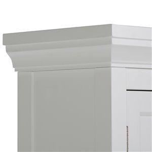 Simpli Home Avington 10-In x 27-In x 67-In White Space Saver Cabinet