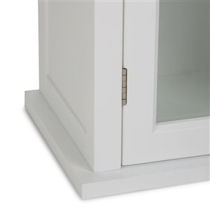 Simpli Home Avington 10-In x 15-In x 27-In White Single Door Wall Cabinet