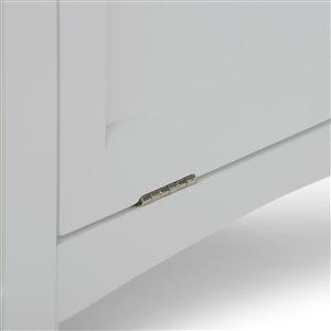 Simpli Home Avington 20.5-In x 15-In x 30-In White Laundry Hamper