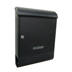 Fine Art Lighting Ltd. Black Locked Mailbox with Newspaper Holder