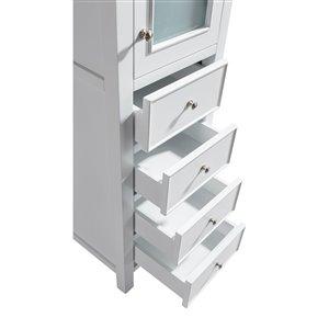 GEF Linen Cabinet Madrid, White