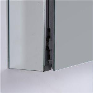 GEF Avila Aluminum Medicine Cabinet, 20-in